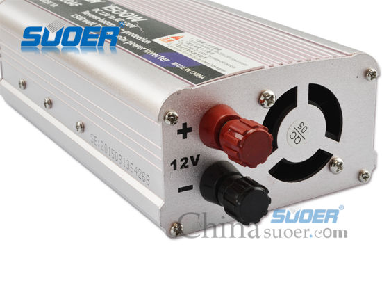 Suoer Manufacture DC to AC Inverter 12V 220V 1500W Power Inverter (SAA-1500AF) pictures & photos