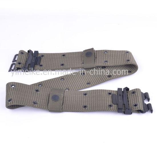 Men's High Quality Military Canvas Army Fabric Plain Webbing Belt