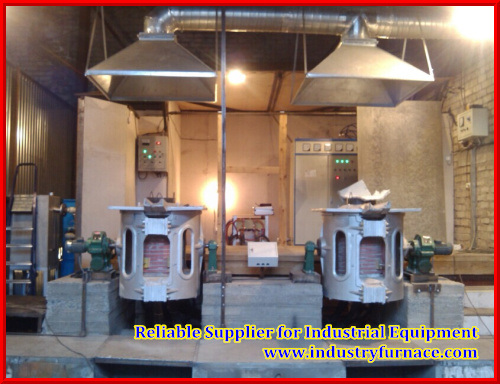 Melting Copper Induction Electric Double Output Furnace