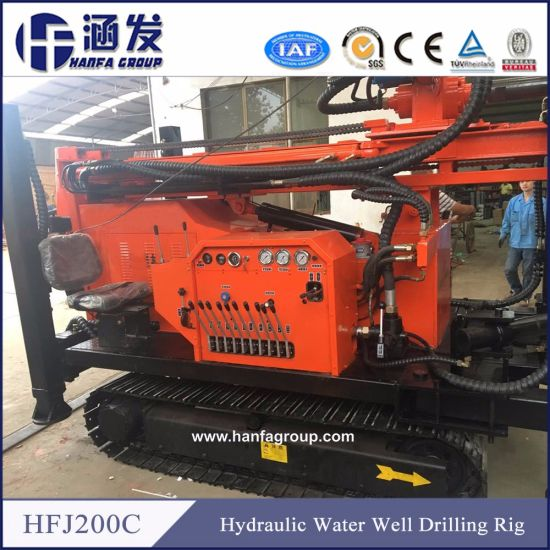 China Hfj200c Hydraulic Water Well Drilling Rig - China