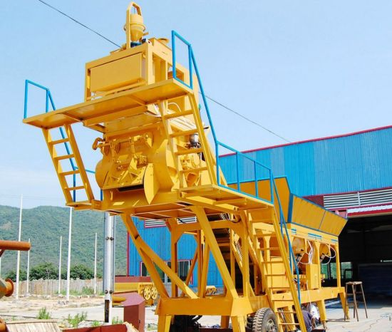 China Mobile Concrete Batching Plant (YHZS40) pictures & photos