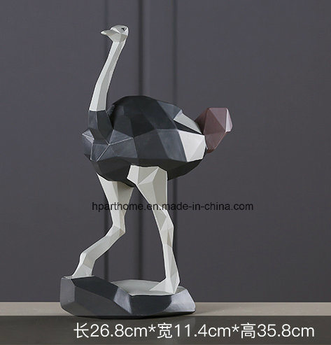 Decorative Resin Ostrich Table Standing Figurine for Wholesale