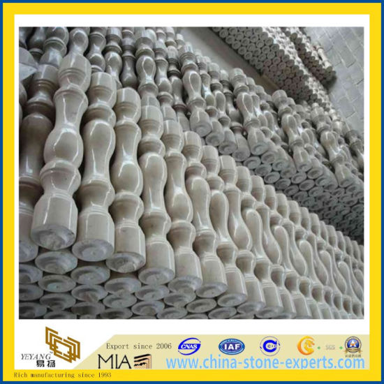 White Marble Railing Baluster for Outdoor Decoration (YQG-PV1048)