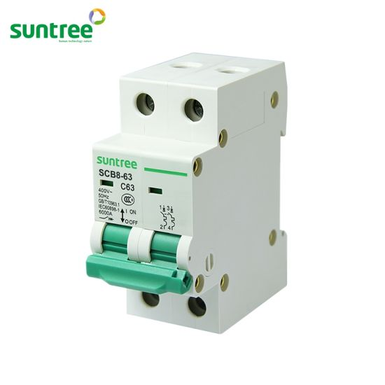 1P 3A D type 240V//415V 50HZ//60HZ Mini Circuit breaker MCB C45