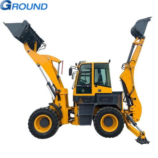 front end backhoe loader , digging and loading for farm, garden