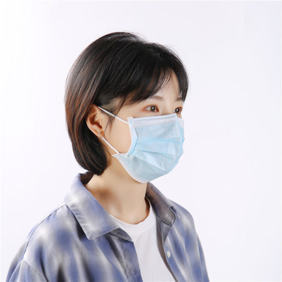 Factory Wholesale Cheap Price Reusable Cotton Masks with Valve and Filter Nonwoven 3 Ply Disposable Face Mask Earloop