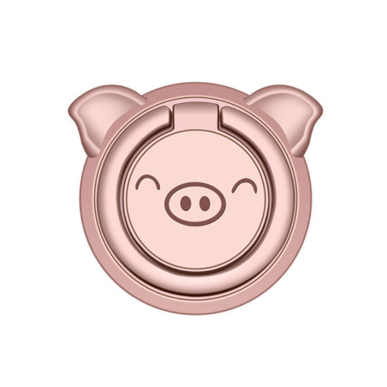 Cute Pig Phone Ring Holder Strong Magnetic for Car Mount Phone Ring Holder