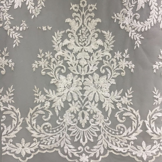 Hot Products Custom Design Hot Sale Embroidered Lace Fabric