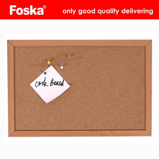 Foska Wood Frame Corrugated Cardboard Cork Board