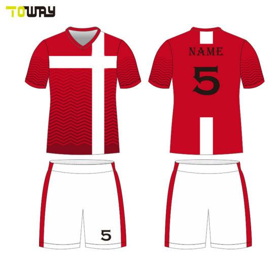 9c2560acea7 China Wholesale Custom Blank Plain Soccer Jersey - China Soccer ...