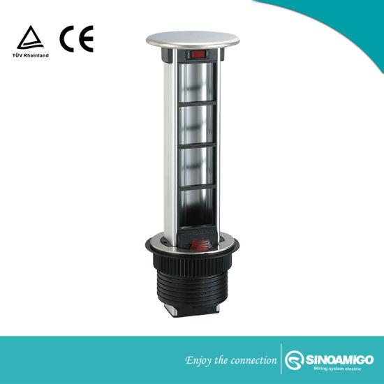 Vertical Pop Up Power Tower Socket