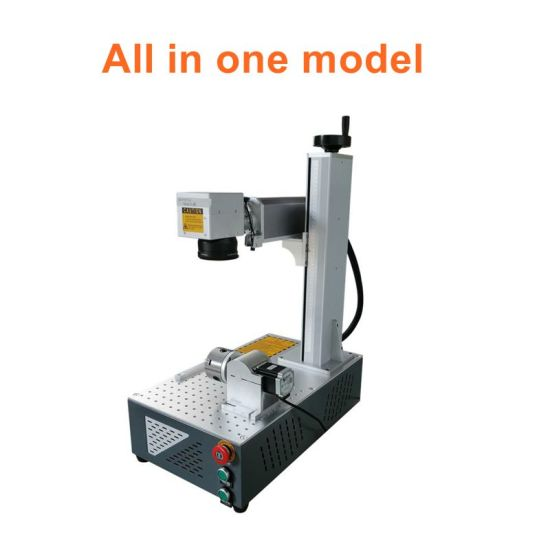 Fiber Laser Marking Machine Max Jpt Laser Printing Machine 20W 30W 50W with Rotary Axis for All Kinds of Metal