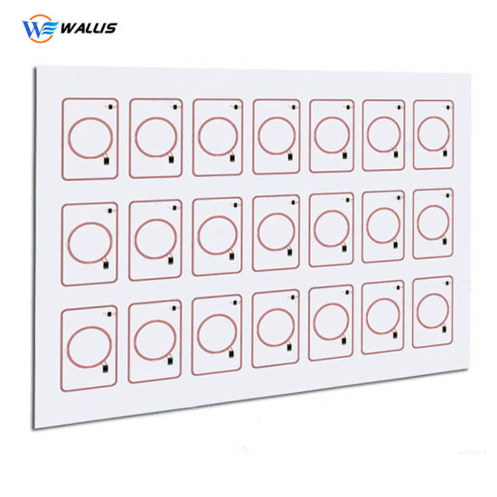 Wholesale Hf 13.56MHz Layout 5X5 RFID Inlay PVC RFID Smart Card Prelam Inlay Sheet for Card Production