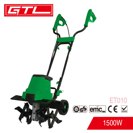 China 1500w 400mm Cutting Width Hand Push Garden Cultivator Mini