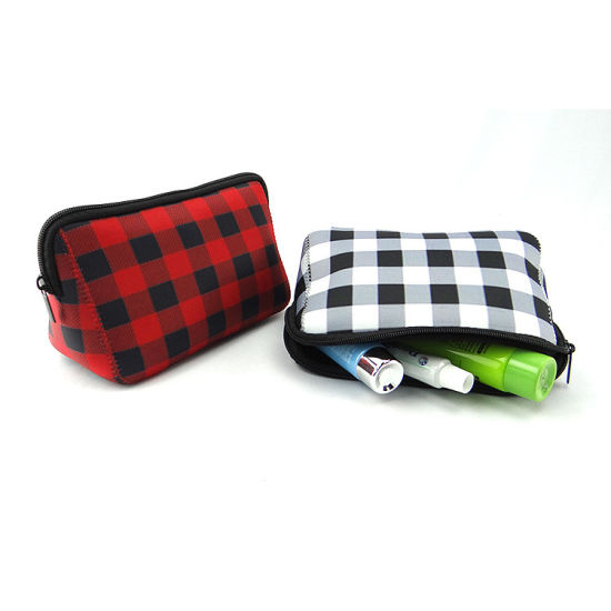 Large Capacity Neoprene Pencil Case Pen Bag Pouch Stationary Case Makeup Cosmetic Bag