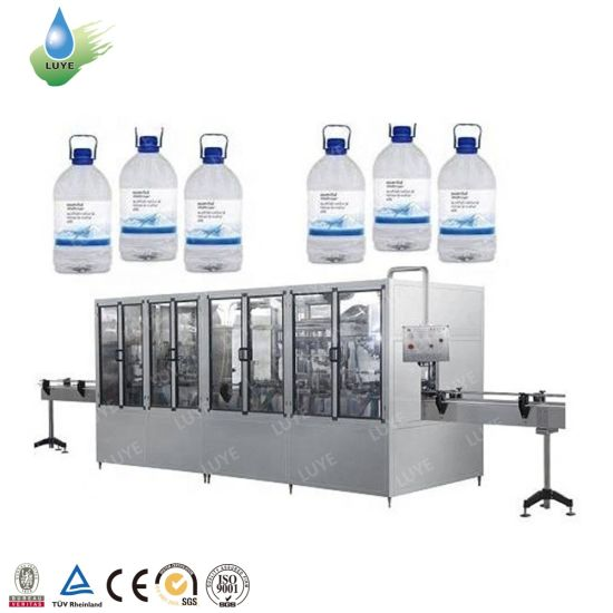 Fully Automatic 3L 5L 7L 10L Liquid Pure Mineral Drinking Soda Water Blowing Washing Rinsing Filling Bottling Capping Sealing Labeling Packing Machine