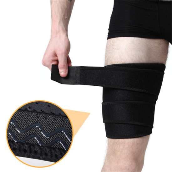 Breathable Neoprene Thigh Guard Compression Sleeve for Sports