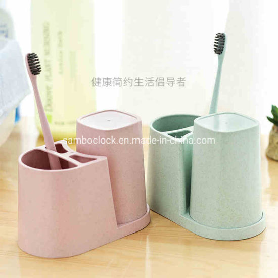 Bathroom Plastic Cup with Toothbrush and Toothpaste Holder pictures & photos