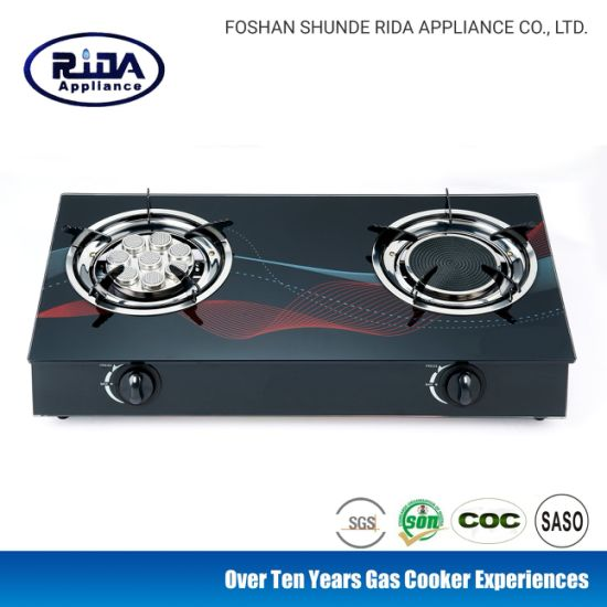 Eight Eyes Infrared Burner New Tempered Glass Model Gas Cooker