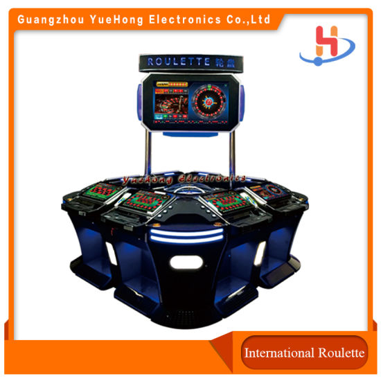 Factory Price Taiwan Original Program Golden Wheel Electronic Roulette Table with Jcm Acceptor