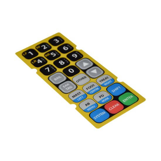 Rubber Silicone Overlay Control Panel Membrane Switch Keypad