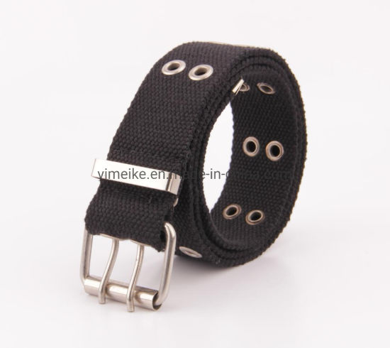 Durable Plain Color Cotton Polyester Hollow out Fabric Belt