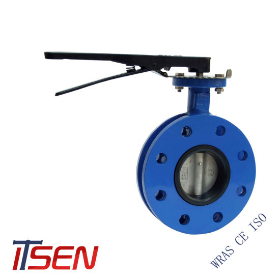 Soft Seat Flanged Butterfly Valve with Lever Operator