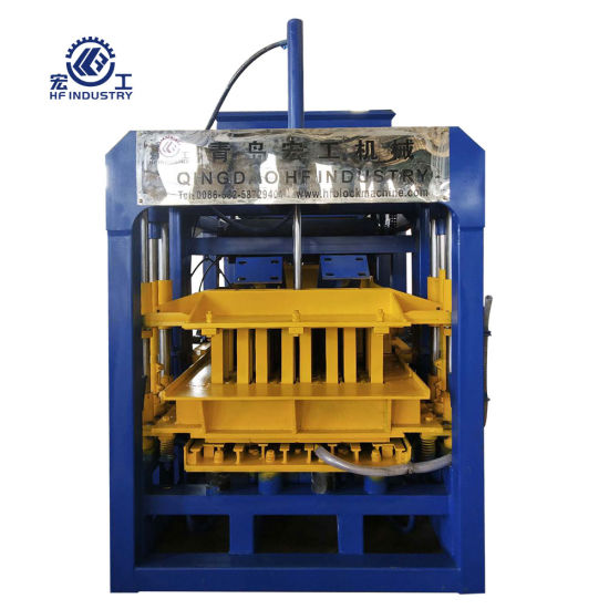 Qt4-16 Fully Automatic Production Line Hydraulic Concrete Hollow Block Maker Machinery Cement Brick Making Machine for Sale in China