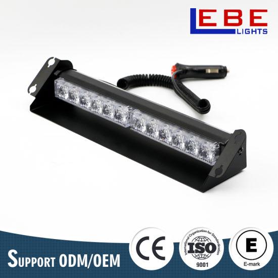 12W 12V 24V LED Dash Deck Amber Strobe Warning Light