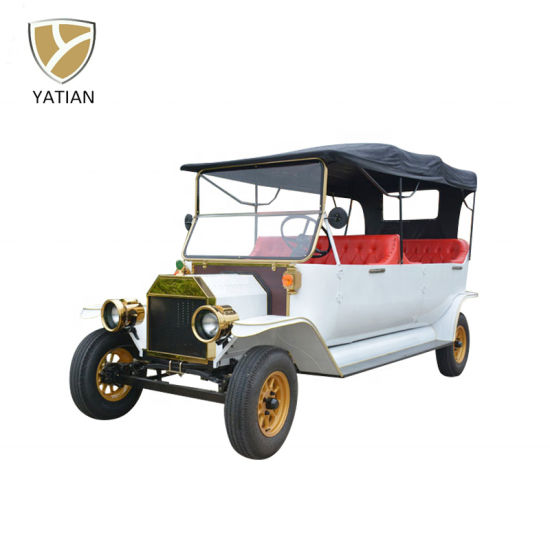 Vintage Electric Shuttle Bus Classic Electric Car for Pick up 8 Persons