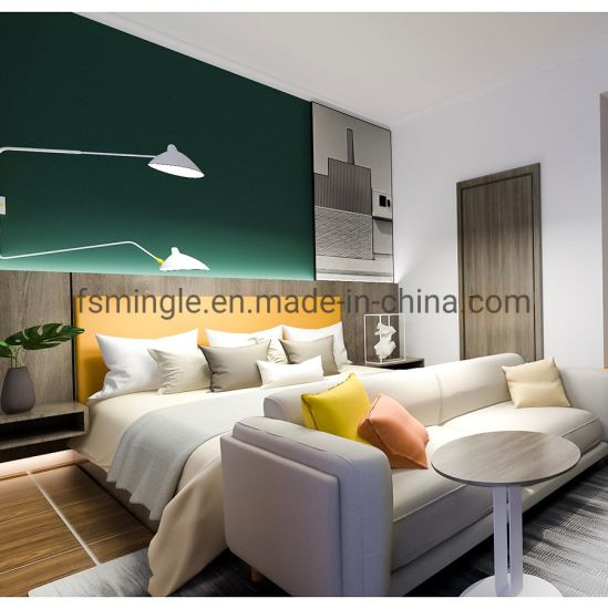 Modern Customized Holiday Hotel Furniture 4 Star Standard Hotel Bedroom Set