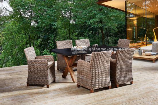 Wholesale Garden Furniture Dining Set Hotel Aluminum Wicker Patio Outdoor Furniture