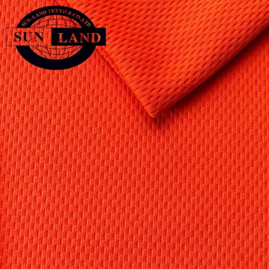 Neon Color High Visibility Clothing Fluorescent 100% Polyester Coolpass Dry Fit Birdeye Mesh Fabric
