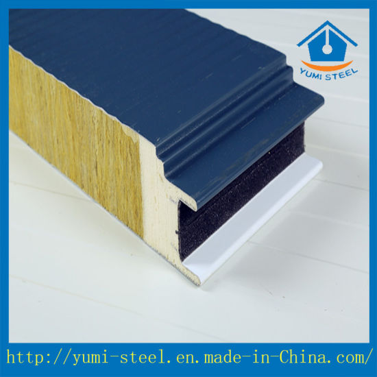 PU Sealing Rock Wool Metal Sandwich Panel for Cold Room