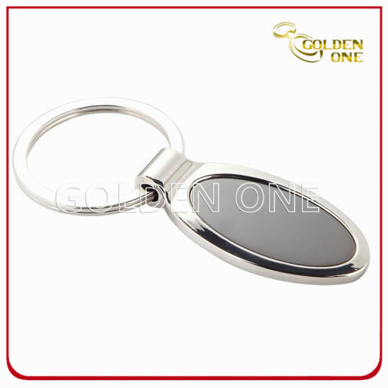 Promotion Nickel Plated Oval Shape Metal Key Ring