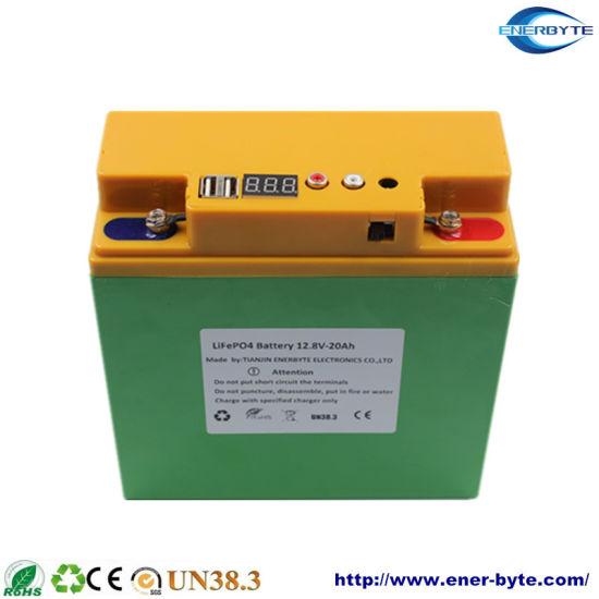 Lithium/Li-ion/LFP Battery/ LiFePO4 Battery Pack 12.8V 20ah with Dual USB 5V/ Power Bank