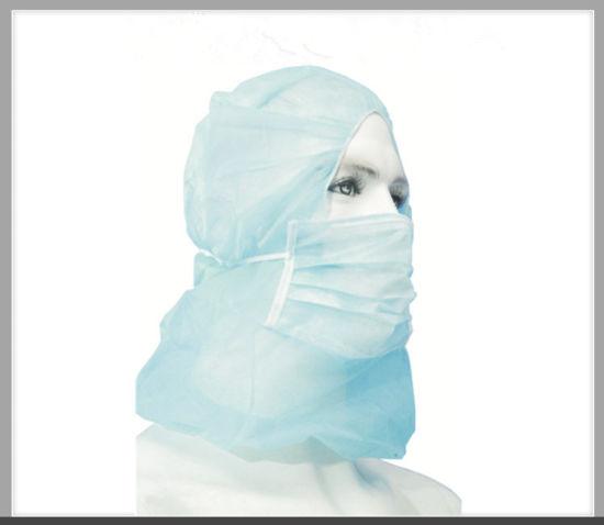Disposable Head Hood Cap Medical Surgeon's Wear