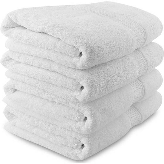 100 Cotton Guest Room Towels Luxury White Long Staple Ring Spun