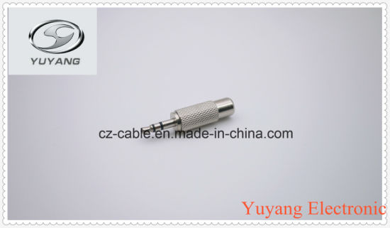Metal 3.5mm Stereo Plug to RCA Jack pictures & photos