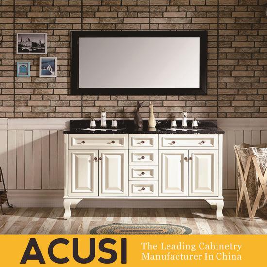 New Premium Simple Style Hot Selling Solid Wood Bathroom Vanity (ACS1-W24)