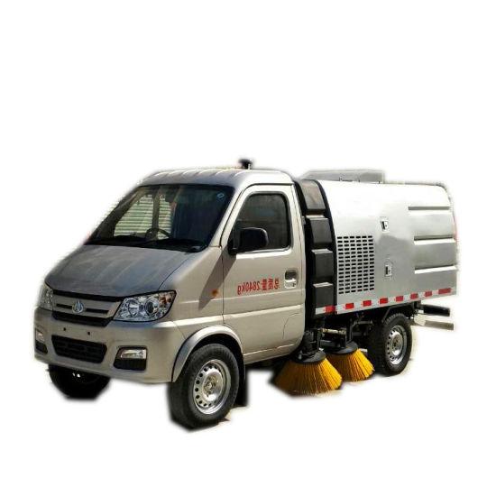 Changan Mini 3 Cbm Road Sweeper Truck 2cbm Garbage +0.5cbm Water