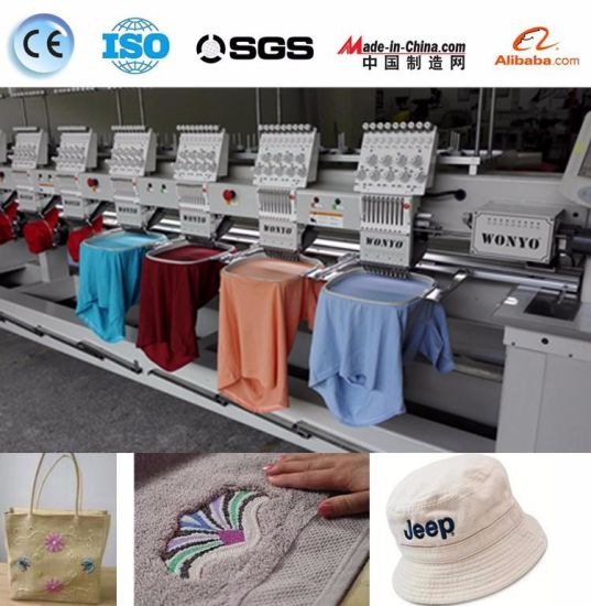 8 Heads Computerized Cap and T-Shirt Embroidery Machine with 9 Needles Best  Prices