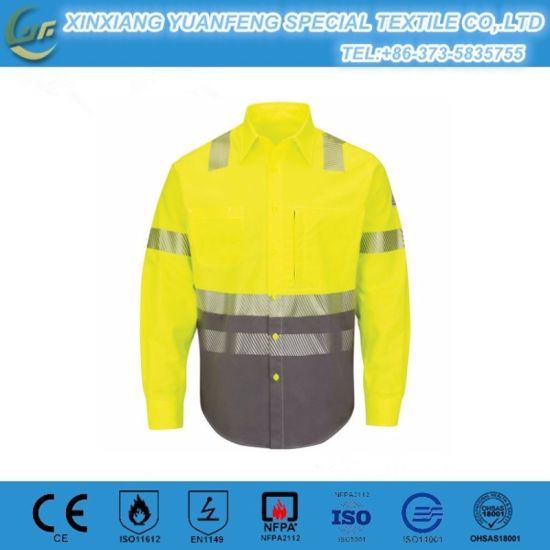 f7587a16e5fd China Protectove Safety Wear Flame Retardant Fr Work Shirts - China ...
