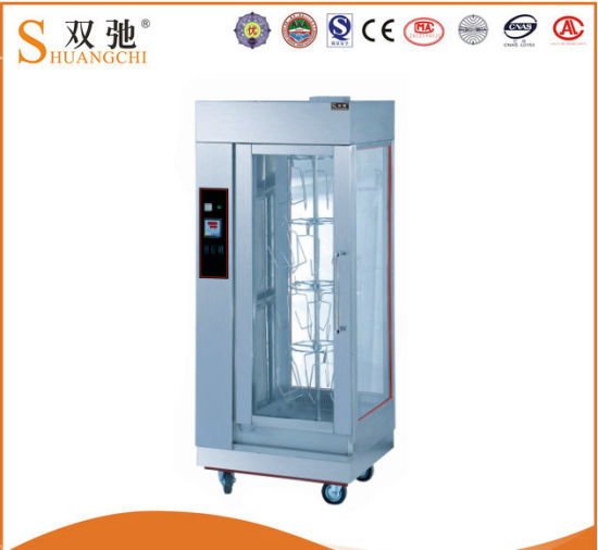Free Standing Electric Chicken Shawarma Machine with Rotsserie pictures & photos