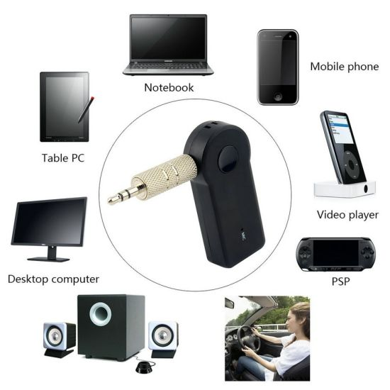 3.5mm Stereo Music Receiver Adapter, Wireless Car Audio Bluetooth Music Receiver pictures & photos