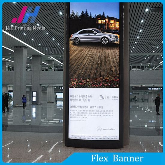 440GSM Glossy Blackout Flex Banner (Black Back) pictures & photos