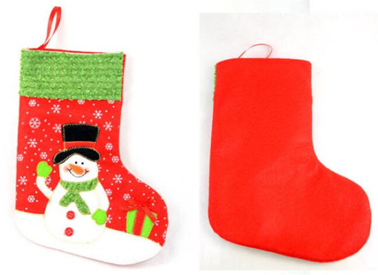 Fast Delivery Snowflake Christmas Stockings (80011-1) pictures & photos