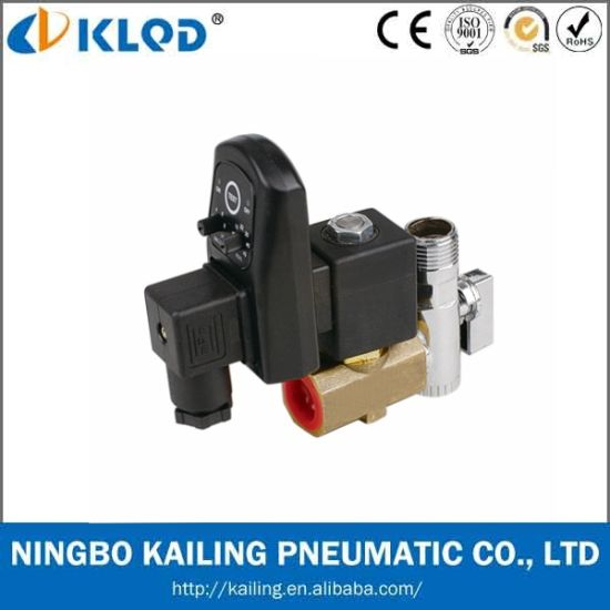 Klpt Series Brass Material Automatic Drain Solenoid Valve 24V pictures & photos