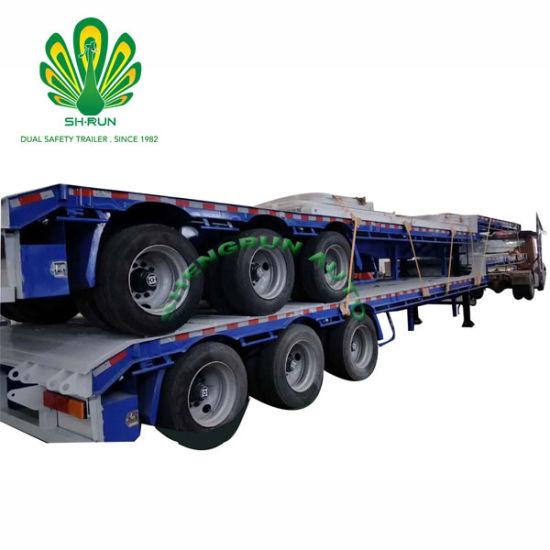 3 Axles Bulk Cargo Truck Trailer Drop Side Insulated Cargo Trailer
