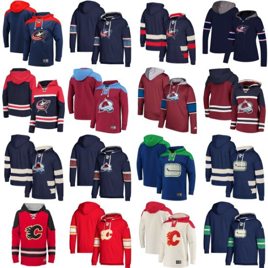 Wholesale 2019 Blue Jackets Avalanche Flames Islanders Sweaters Pullovers Hoodies